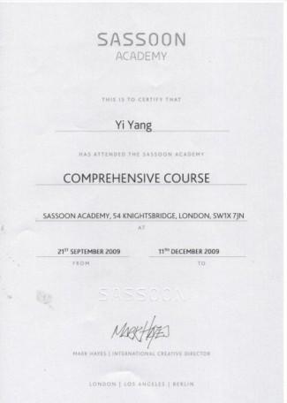 爱丁堡理发中国屋证书